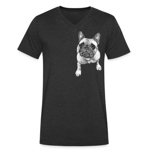 French Bulldog - T-shirt bio col V Stanley & Stella Homme