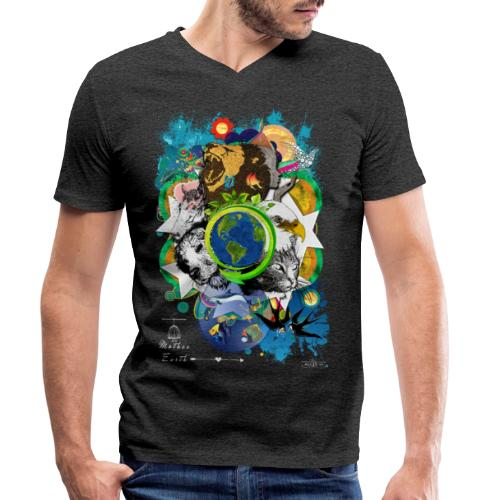 Mother Earth -by- T-shirt chic et choc - T-shirt bio col V Stanley & Stella Homme