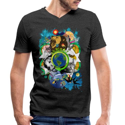 Mother Earth - black (us) -by T-shirt chic et choc - T-shirt bio col V Stanley & Stella Homme