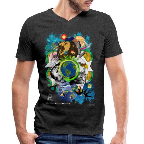 Terre Mère Nature -by- T-shirt chic et choc - T-shirt bio col V Stanley & Stella Homme