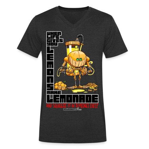 Lemonade Robot!🍋 - Økologisk Stanley & Stella T-shirt med V-udskæring til herrer