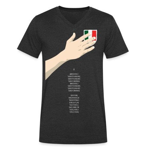 ITA-hand+inno-spreadshirt - T-shirt ecologica da uomo con scollo a V di Stanley & Stella