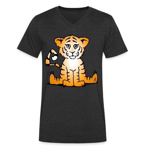 Tiger cub - Men's Organic V-Neck T-Shirt by Stanley & Stella