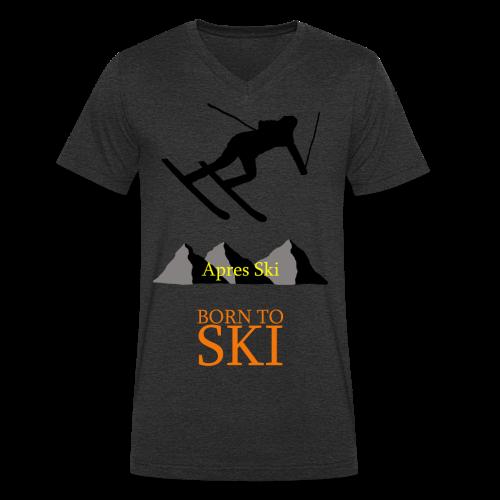 Schishirt - Männer Bio-T-Shirt mit V-Ausschnitt von Stanley & Stella