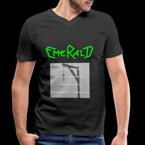 Emerald - Männer Bio-T-Shirt mit V-Ausschnitt von Stanley & Stella