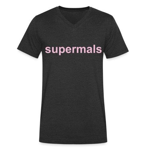 Supermals - Mannen bio T-shirt met V-hals van Stanley & Stella
