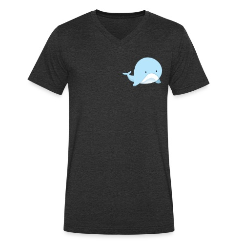 Whale - T-shirt ecologica da uomo con scollo a V di Stanley & Stella