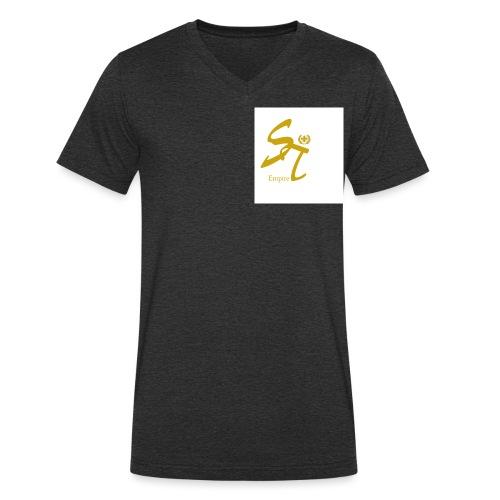 Saint Empire White - Männer Bio-T-Shirt mit V-Ausschnitt von Stanley & Stella