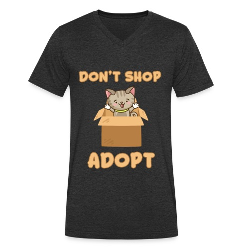 ADOBT DONT SHOP - Adoptieren statt kaufen - Männer Bio-T-Shirt mit V-Ausschnitt von Stanley & Stella