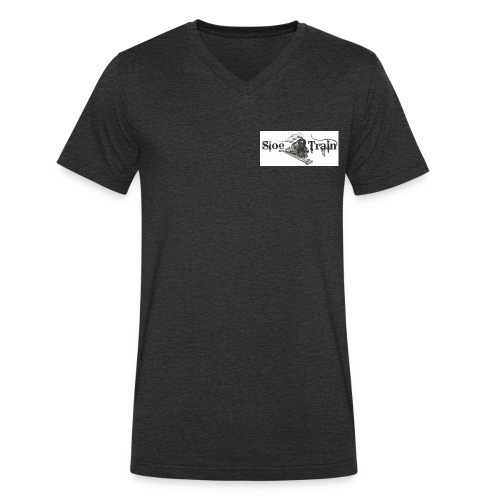 sloe tain logo jpg - Men's Organic V-Neck T-Shirt by Stanley & Stella