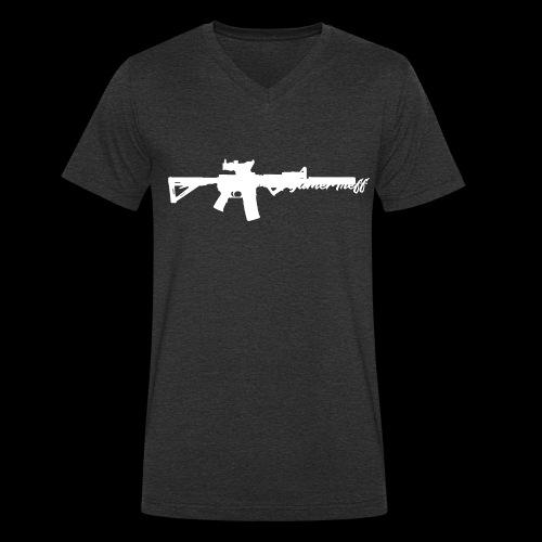 GamerTreff M4 Pulli - Männer Bio-T-Shirt mit V-Ausschnitt von Stanley & Stella