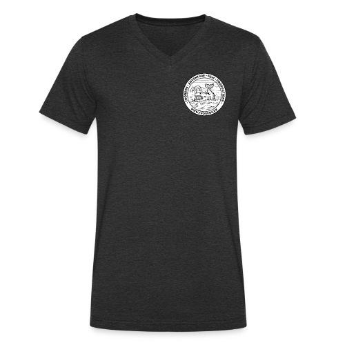 Thordox Logo White Whale - Økologisk Stanley & Stella T-shirt med V-udskæring til herrer