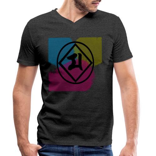 Logo Japones color - Camiseta ecológica hombre con cuello de pico de Stanley & Stella