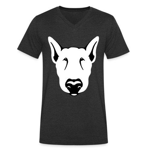 Bull Terrier Head - Men's Organic V-Neck T-Shirt by Stanley & Stella