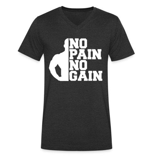 no pain no gain - T-shirt bio col V Stanley & Stella Homme
