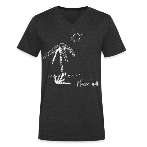 palmeweiß - Männer Bio-T-Shirt mit V-Ausschnitt von Stanley & Stella