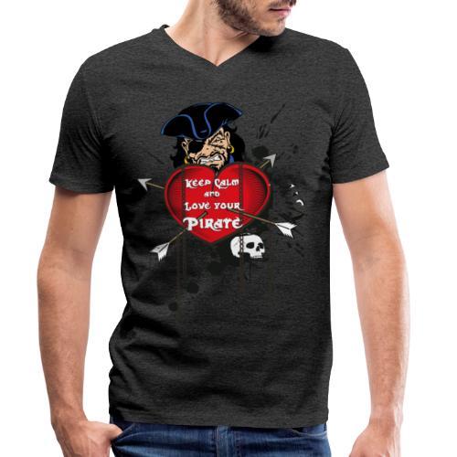 love your pirate - T-shirt ecologica da uomo con scollo a V di Stanley & Stella