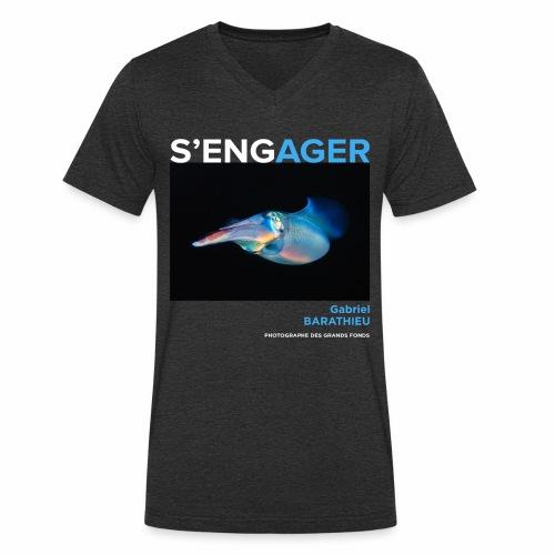 1 Achat = 1 Don à l'association Deep blue explore - T-shirt bio col V Stanley & Stella Homme