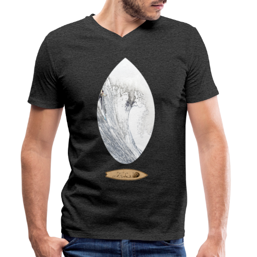 maverick surf - Camiseta ecológica hombre con cuello de pico de Stanley & Stella