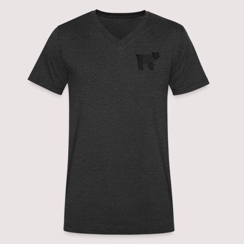 Bär Schwarz - Männer Bio-T-Shirt mit V-Ausschnitt von Stanley & Stella