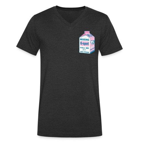 Missing: G-spot - Men's Organic V-Neck T-Shirt by Stanley & Stella