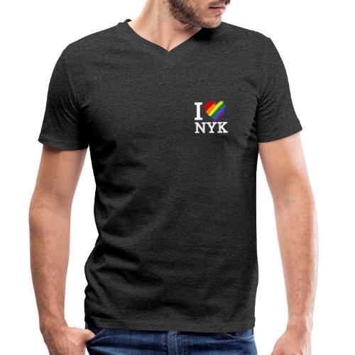 I love NYK - Camiseta ecológica hombre con cuello de pico de Stanley & Stella