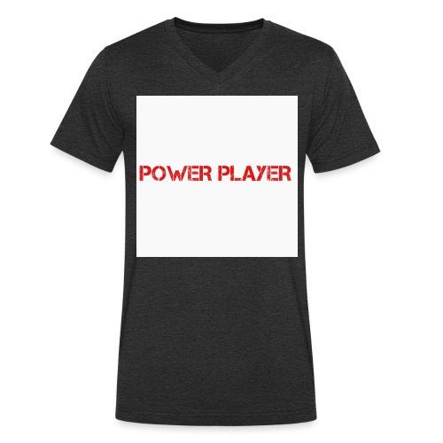 Linea power player - T-shirt ecologica da uomo con scollo a V di Stanley & Stella