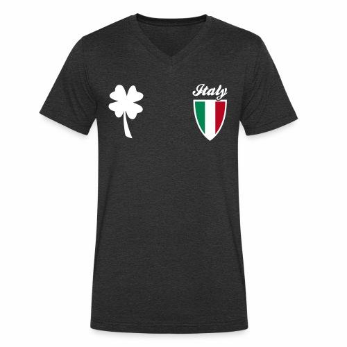 Italia Emblema sport 3C - T-shirt ecologica da uomo con scollo a V di Stanley & Stella
