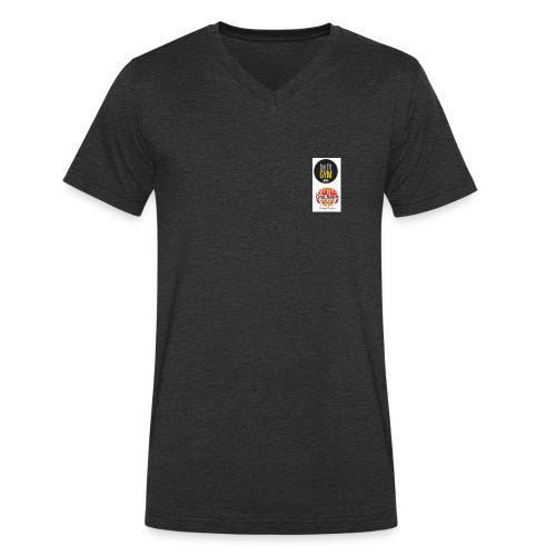 be fit und Citysport Logo - Camiseta ecológica hombre con cuello de pico de Stanley & Stella