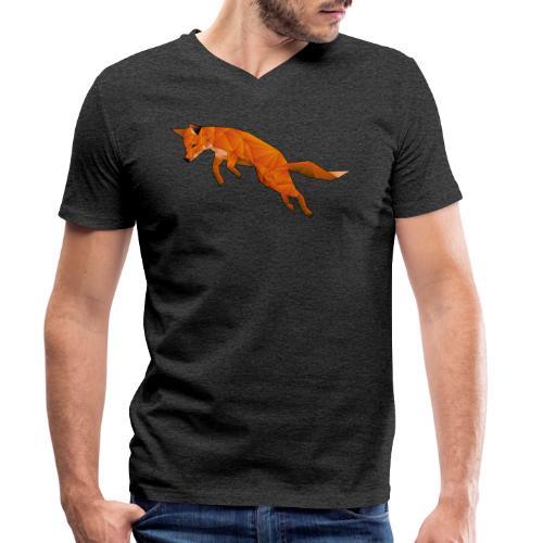 The Quick Brown Fox - Mannen bio T-shirt met V-hals van Stanley & Stella