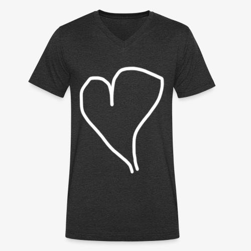 Hjärta - Ekologisk T-shirt med V-ringning herr från Stanley & Stella