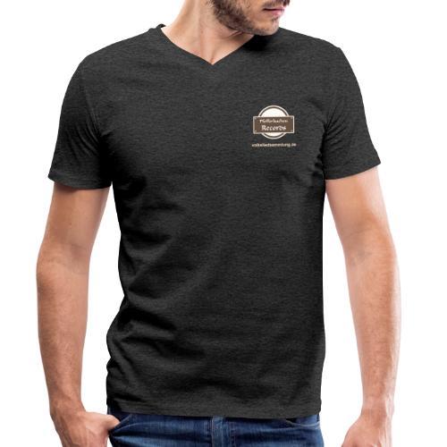 Pfefferkuchen Records Label - Volksliedsammlung - Männer Bio-T-Shirt mit V-Ausschnitt von Stanley & Stella