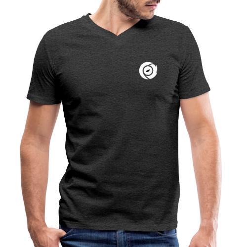 SOS Logo White - Men's Organic V-Neck T-Shirt by Stanley & Stella