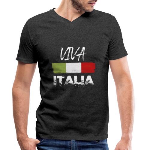 VIVA ITALIA - Men's Organic V-Neck T-Shirt by Stanley & Stella