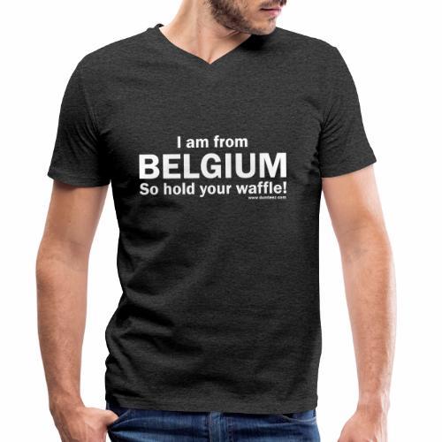 From Belgium - Mannen bio T-shirt met V-hals van Stanley & Stella
