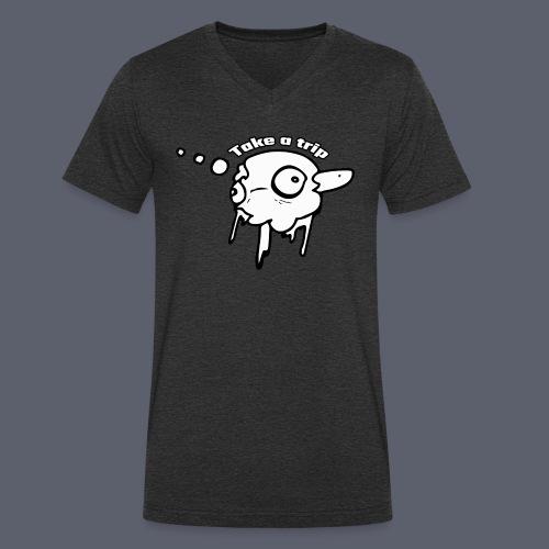 Trippy - Ekologisk T-shirt med V-ringning herr från Stanley & Stella