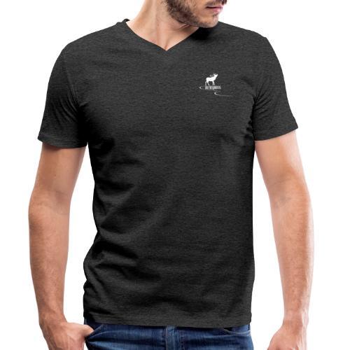 Collezione aleksjboss logo bianco - T-shirt ecologica da uomo con scollo a V di Stanley & Stella