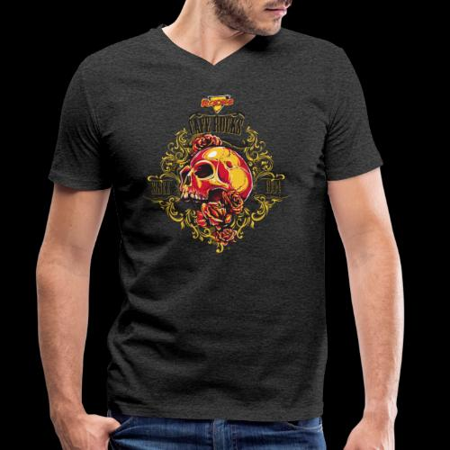 Skull Ornaments 4 - Mannen bio T-shirt met V-hals van Stanley & Stella
