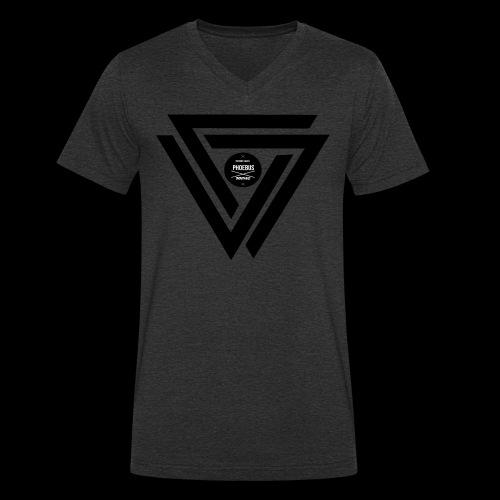 07logo complet black - T-shirt bio col V Stanley & Stella Homme