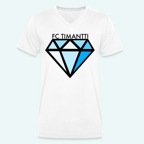 FC Timantti mustateksti - Stanley & Stellan miesten luomupikeepaita