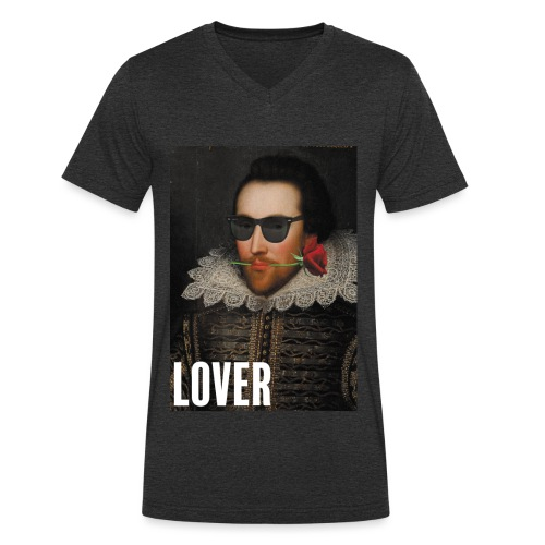Shakespeare, ce lover - T-shirt bio col V Stanley & Stella Homme