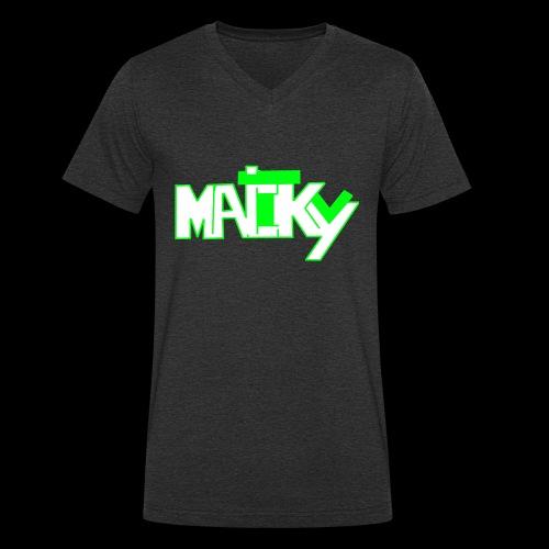 MaickyTv Grün - Männer Bio-T-Shirt mit V-Ausschnitt von Stanley & Stella