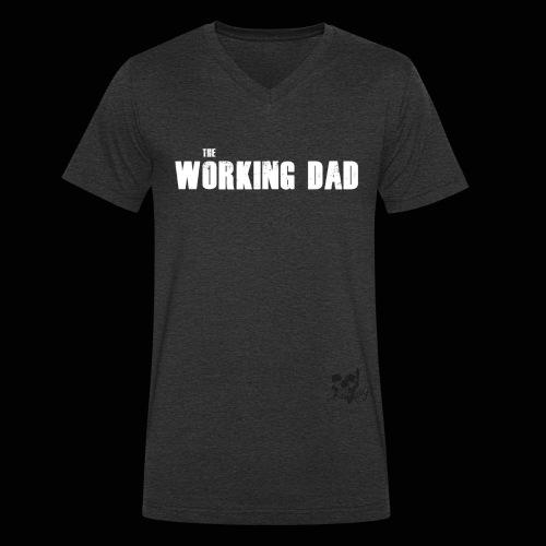 Working Dad white - Männer Bio-T-Shirt mit V-Ausschnitt von Stanley & Stella