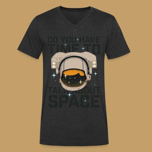 Time for Space - Ekologiczna koszulka męska z dekoltem w serek Stanley & Stella