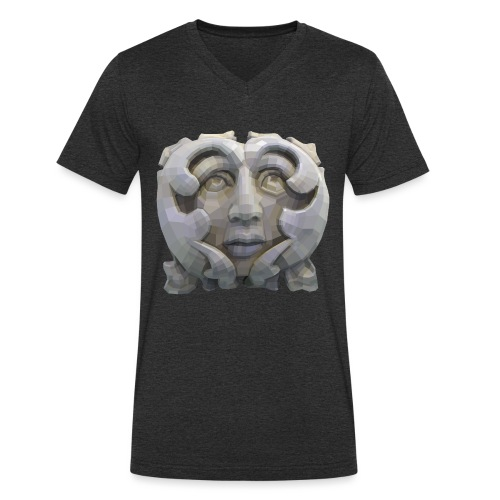 Greenman for Pagans and Druids - Men's Organic V-Neck T-Shirt by Stanley & Stella