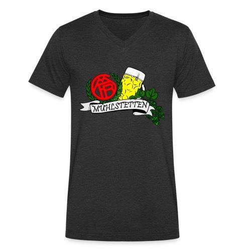 Fanclub Rezattal - Männer Bio-T-Shirt mit V-Ausschnitt von Stanley & Stella