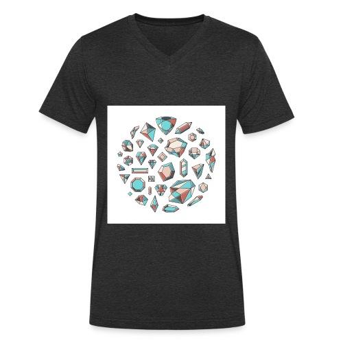 37 diamond shapes 03 jpg - Økologisk T-skjorte med V-hals for menn fra Stanley & Stella