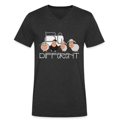Cool Be Different Sheep Gang - Good Mood Sheep - Men's Organic V-Neck T-Shirt by Stanley & Stella