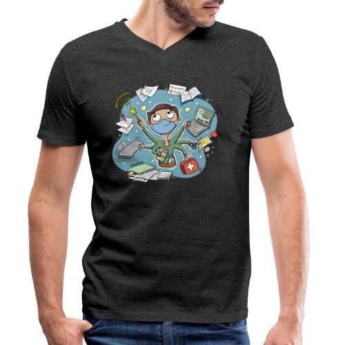 PROFE multitask 2021 - Camiseta ecológica hombre con cuello de pico de Stanley & Stella
