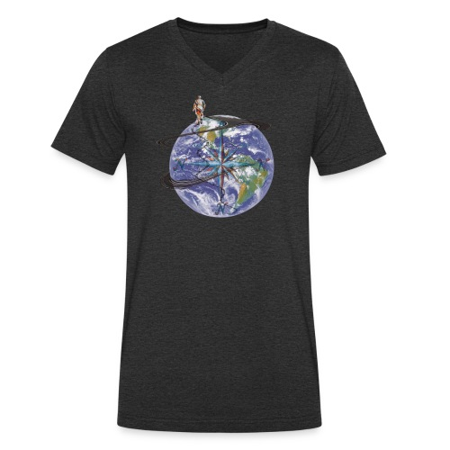 homme terre expression - T-shirt bio col V Stanley & Stella Homme